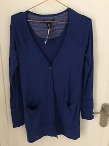 H&M Blue Cardigan With Labels Size XS