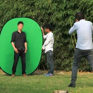 2 x 1.5m Photo Studio Popup Photography Backdrop Background Oval Panel Screen UK