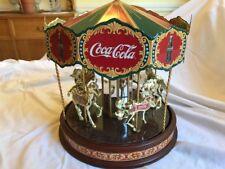 Coca-Cola Merry-go-round music box FRANKLIN MINT Vintage Antique Collectibles