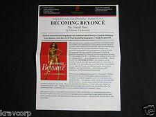 Becoming Beyonce—2015 Press Release—J. Randy Taraborrelli