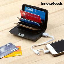 Externo Portátil Batería de portatarjetas USB Banco de alimentación de seguridad Gadget Tech Cartera