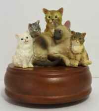 """WESTLAND KITTY CAT FRIENDS """"THAT'S WHAT FRIENDS ARE FOR"""" MUSIC BOX"""