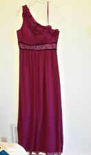 New Maxandcleo One Shoulder Sexy Formal Long Full Length Dress Wineberry Size 14