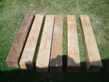 """6 Reclaimed timber posts 6"""" x 5 1/2"""" pine,"""