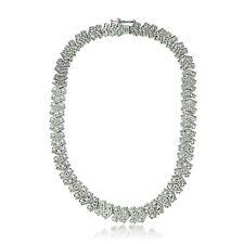 1 Ct TDW Diamond Chevron Tennis Necklace in Brass