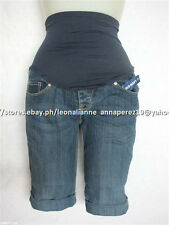 70% OFF! OLD NAVY MATERNITY SMOOTH PANEL DENIM SHORTS SIZE 18 BNWT $34.50