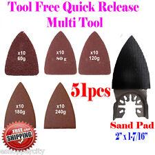 51 Finger Sanding Kit Oscillating MultiTool Rockwell Sonicrafter RK5140K Bosch