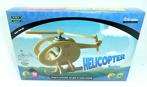 SOLAR HELICOPTER BUILD & PAINT WOODEN PLANE ROTATING PROPELLER