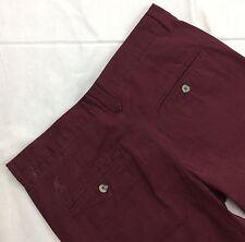Kangol mens dark red burgundy light jeans  chino pants trouser size 30R