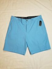 "Nautica New Mens 36 Blue Deck Shorts Flat Front Chinos Stretch 8.5"" Inseam NWT"