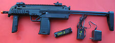 MP7 Style Metal Gearbox Electric Airsoft Gun Folding Fore Grip, Extension Stock