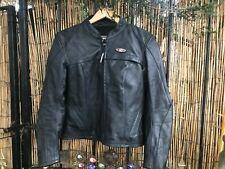 Great DANNISPORT ladies Racer biker Motorbike leather jacket size 10-12