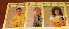 1985 Queen Fan Club Exclusive-3 Signed Christmas Cards-No Freddie-Facsimile