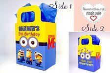 Mi Villano Favorito Fiesta Cajas Cumpleaños para favor favor Goodie Personalizado minions