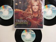 LOT OF 4 ' TRISHA YEARWOOD ' HIT 45's+1P(Copy)[Wrong Side Of Memphis]  THE 90's!