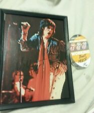MICK JAGGER Rolling Stones Signed Autographed Photo display framed VIP pass COA