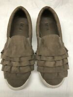 "MIA Women's ""Margaret"" Slip On Fashion Sneakers Brown Faux Suede Size 9M"
