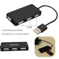 4 Porta USB 2.0 Hub Adattatore Splitter Cavo Convertitore Per PC Laptop Notebook