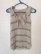 Womens size L maternity Cream Sweater Knitted Ruffles shirt Robins Nest