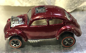 1967 Mattel Hot Wheels Redline Custom Volkswagen Bug Beetle Dark Magenta USA