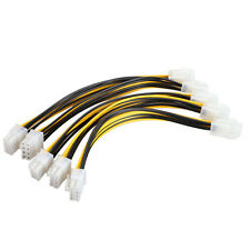 5 PCS 4 Pin Female To 8 Pin Male Power Cable For CPU Power Supply 0.65ft