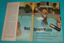 1958 TV ARTICLE~MARJORIE LORD WITH SON GREGG & DAUGHTER ANNE IN SWIMMING POOL