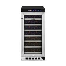 Whynter Built-In Wine Refrigerator Beverage Cooler Stainless Steel 33 Bottle