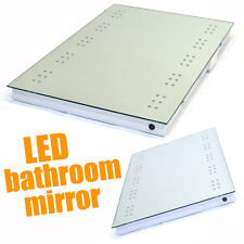 LED ILLUMINATED BATHROOM MIRROR DEMISTER / SHAVER / SENSOR WALL MOUNTED MODERN