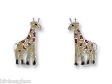 Stud Zoo Animal + Wrapped Box Zarah Giraffe Post Earrings Sterling Silver Plated