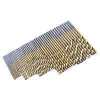 50Pcs Twist Drill Bit Set Saw Set HSS High Steel Titanium Coated Drill Piece