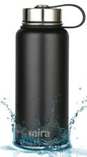 MIRA Insulated Double Wall Vacuum Stainless Steel Water Bottle, 32 oz, Black