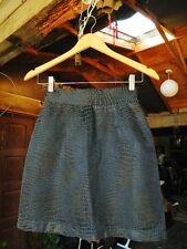 MARIPOSA Womens Vintage Bluish Black Animal Print Mini Skirt Size 3 / XS