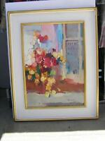 """Original Raffandre Italian Oil Painting of Still Life Bouquet Framed 29"""" x 37"""""""
