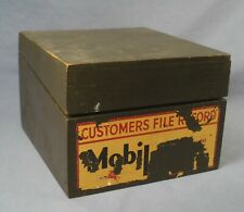 Mobil Oil Dealer Customer Records Box