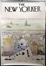 SAUL STEINBERG  POSTER - VIEW OF THE WORLD FROM 9TH AVENUE - NEW YORK CITY