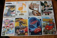 8 Wii Games Links Crossbow training Monster 4X4 NCAA Football Music Nerf Cars ++