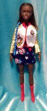 Barbie Clothes Outfit: DC Comics Wonder Woman Dress Baseball Jacket Bag & Boots