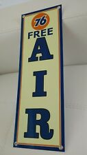 Union 76 Gasoline Oil sign Free Air... Lot of 4