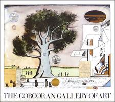 Saul STEINBERG Corcoran Gallery BAUHAUS 1982 Original Poster