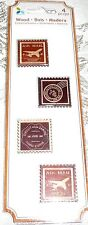 Momenta Wood Embellishments TRAVEL STAMPS