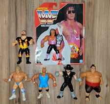 WWF Hasbro Series 8 Red Complete Loose Set w/Bret Card+Belt WWE ELITE RARE RETRO