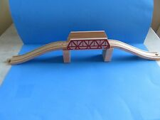 "Melissa & Doug ""Trestle Bridge, Ascending Track & Track Supports"" Wooden Railway"