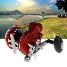 Fishing Lines Counter Trolling Drum Wheel Reel 12 Ball Bearings Depth Gauges Sea