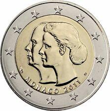 Monaco 2 Euro Gedenkmünze 2011 stgl. Hochzeit von Albert II. & Charlene im Etui