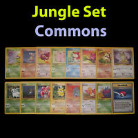 NM Unlimited COMPLETE Pokemon JUNGLE 16-Card Common Set/64 Pikachu Eevee TCG
