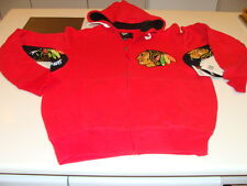 NHL Hockey Hands High Chicago Blackhawks FZ Hoodie Sweatshirt Armpit Logo XXL