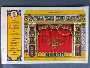 Vintage The Victoria An Original POLLOCK'S Toy Theatre W/ Cinderella - 1972