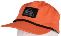 New Quiksilver QUIK Relaxed Orange Nylon Surfing Hat Flexfit - Large / X-Large