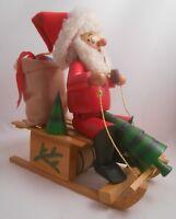 Steinbach Germany Smoker Christmas Santa Sleigh Musical Movement Jingle Bells