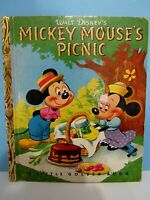 VTG. LITTLE GOLDEN BOOK - WALT DISNEY'S MICKEY MOUSE'S PICNIC - VG TO EXCELLENT